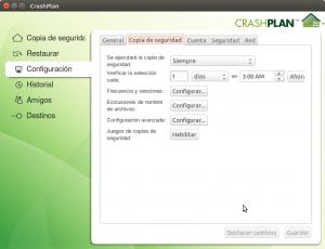 Configuracion de copia de seguridad